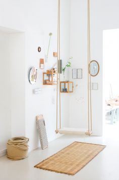 Sukha Amsterdam creates some of the most beautiful spaces. Remember the wooden swing I made last year?... Hopefully I'll be able to display it like this at some point in the near future :)