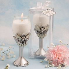 Angel Champagne Flute Candle Favors