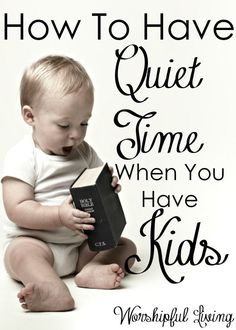 Struggling to have your quiet time now that you have kids? Friend, you are not…