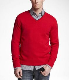 Double Layer V-Neck Sweater $35.94