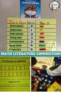 Looking for a math literature connection? Here is a primary math lesson using the book One Big Pair of Underwear to teach comparing numbers.