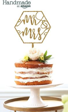 """Geometric Wedding or Party Cake Topper """"Mr & Mrs"""" in Glitter or Rustic Wood Calligraphy Style Modern Boho Decor for Reception Dessert Table Engagement Bridal Shower Mr Mrs Cake Toppers, Wedding Cake Toppers, Wedding Cakes, Geometric Cake, Geometric Wedding, Adidas Samba, Fun Party Themes, Party Ideas, Acrylic Cake Topper"""
