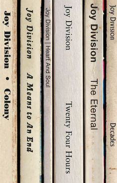 Joy Division 'Closer' Album As Books Poster Print