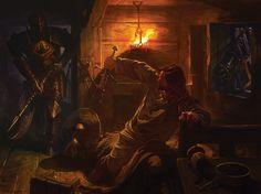 ArtStation - Хватает меч, Александр Deruchenko