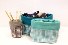 Fabric Bin Tutorial - Is your sewing room calling for some organization? This fabric bin tutorial comes to the rescue. Now you just have to choose some of your favorite fabrics and decide on the size of the bins. Fabric Storage Baskets, Quilt Storage, Fabric Boxes, Storage Bins, Fabric Basket, Sewing Baskets, Small Sewing Projects, Sewing Crafts, Crafty Projects