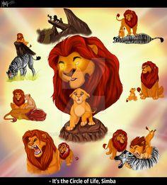 It`s the Circle of Life, Simba  Mufasa`s dream by VlalizaVladaRose