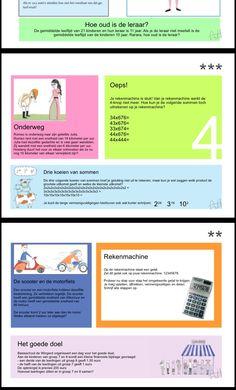 Leuke klaaropdrachten voor de rekenles maak je zo zelf! | Zoals deze opdrachten voor de handige rekenaars van groep 7/8...