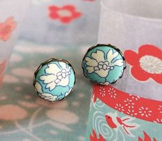 Hey, I found this really awesome Etsy listing at https://www.etsy.com/listing/180544252/fabric-button-earrings-light-aqua-blue