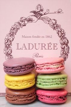 Laduree macarons - now, in every colour and taste. Did I say now? I mean it.