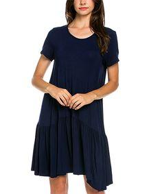 Another great find on #zulily! Love, Kuza Navy Drop-Waist Dress by Love, Kuza #zulilyfinds