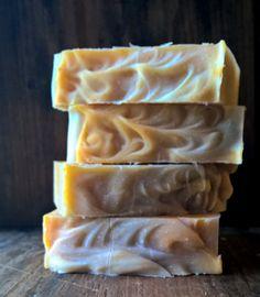 Saffron & Cedar Soap  Palm free soap handmade by BubbleandFlameNH