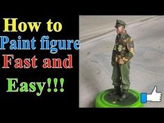 Painting figure tutorial - from start , cleaning and prepairing figure to painting. Flesh painting - base color , highlights , shadows and glazing. Military Figures, Military Diorama, Vallejo Paint, Airfix Models, Wargaming Table, Modeling Techniques, Modeling Tips, Star Wars Models, Digital Painting Tutorials