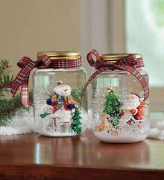 Creative DIY Snow Globe Mason Jars Ideas 55