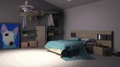 Para todos los espacios!!!...Fresh Vintage de Kazzano #render #dormitorios #bedroom #muebles #furniture #madeinspain
