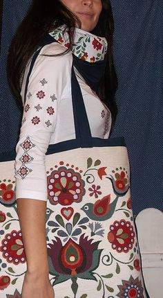 LenaFolk / Nákupná taška - folklór Reusable Tote Bags, Heart, Fashion, Moda, Fashion Styles, Fashion Illustrations, Hearts