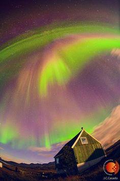 Imagens espetaculares da aurora boreal na Groenlândia