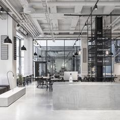 Designer Richard Lindvall began his transformation by stripping the entire ground floor out and starting again. The project breathed new life into the formerly stuffy building, and when it was finished, the 2,000sqm space had a cool, crisp, glacial freshness...