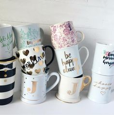 All the pretty coffee mugs <3