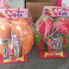 Goodiebag souvenir Fruit themed