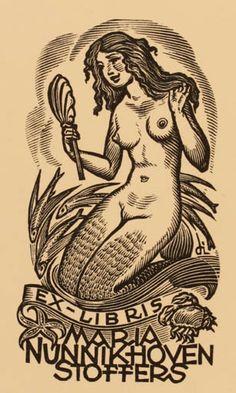 Resultado de imagen para ex libris mermaid Ex Libris, Engraving Illustration, Illustration Art, Art Sketches, Art Drawings, Old School Tattoo Designs, Mermaids And Mermen, Arte Pop, Mermaid Art