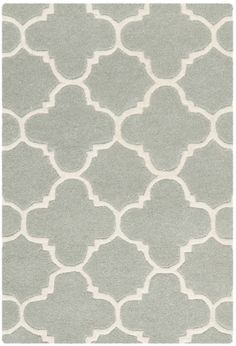AllModern - great inexpensive area rug selection! Safavieh Chatham Grey / Ivory Rug |
