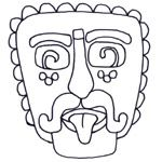 Bunch of different coloring pages of Maya, Inca, and Aztec art Sun Coloring Pages, Printable Coloring Pages, Coloring Sheets, Mayan Mask, Aztec Mask, Spanish Art, Spanish Class, Art Worksheets, Mesoamerican