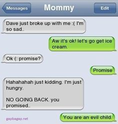 Funny Text About Mom vs Daughter's Ex
