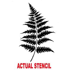 Cutting Edge Stencils - Small Fern Leaves Stencil kit 2pc. $14.95. See more Flower and Vine Stencils: http://www.cuttingedgestencils.com/stencils-flower-stencil.html?pn_pr=3 #stencils #flowerstencils #vinestencils