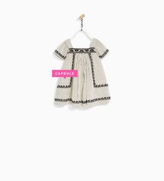 STRIPED DRESS WITH TOP STITCHING-DRESSES AND JUMPSUITS-BABY GIRL   3 months - 4 years-KIDS   ZARA United States