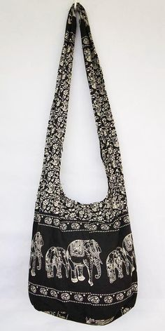 EXTRA PRICE!!! YAAMSTORE black elephant hobo bag sling shoulder crossbody hippie boho purse promotion save money
