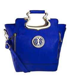 Another great find on #zulily! Blue Gotham Convertible Satchel by MKF Collection #zulilyfinds
