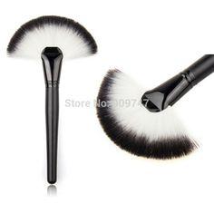Maquillaje suave Large Fan Brush cepillos Cosméticos Fundación Blush Powder Make…
