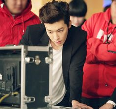 Twitter / SMTownFamily: {OFFICIAL} 140326 #SuperJuniorM Swing Music Video Shoot- Donghae