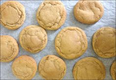 Soft Brown Sugar Coconut Oil Cookie Recipe - - I substituted wheat flour for the regular flour and cornflour. I switched syrup for molasses. Bake for 20 minutes at Coconut Recipes, Milk Recipes, Sweet Recipes, Cookie Recipes, Dessert Recipes, Coconut Oil Cookies, Coconut Biscuits, Sugar Cookies, Healthy Desserts