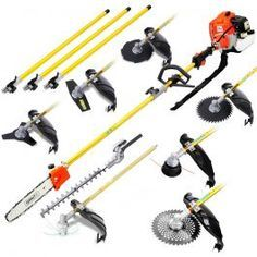 Giantz 9 In 1 Petrol Pole Chainsaw Hedge Trimmer Whipper Snipper Pruner Garden Power Tools, Garden Tool Set, Gardening Tools, Tools And Equipment, Outdoor Power Equipment, Lawn Equipment, Float Center, Safety Kit, How To Make Light