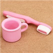 Gomas de borrar rosas cepillo de dientes taza de Iwako Japón