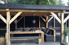 terrassengestaltung bilder veranda bauen holzpergola selber bauen lounge möbel
