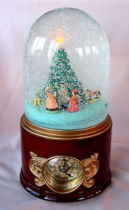 Mr Christmas Animated Musical Snow Globe Clock   eBay