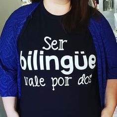 Today's shirt of the day... 'Ser bilingüe vale por dos.' 🌎 Bilingual Classroom, Bilingual Education, Spanish Classroom, Teaching Spanish, Teacher Outfits, Teacher Shirts, Growth Mindset Posters, Spanish Immersion, Teacher Boards