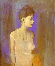 Pablo Picasso (1881‑1973): Jeune femme en chemise ('Girl in a Chemise'), c. 1905. Tate Gallery, London.