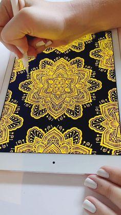 Mandala Drawing, Mandala Art Lesson, Mandala Artwork, Mandala Sketch, Digital Art Tutorial, Digital Painting Tutorials, Art Tutorials, Black Paper Drawing, Drawing Art