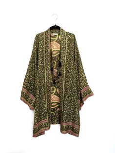 A personal favourite from my Etsy shop https://www.etsy.com/uk/listing/254331359/silk-kimono-jacket-beach-cover-up-with