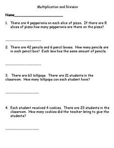 One and Two Step Word Problems Multiplication and Division Fraction Word Problems, Multiplication Problems, Math Word Problems, Multiplication And Division, Mental Maths Worksheets, Fractions Worksheets, 3rd Grade Words, Grade 2, Maths Paper