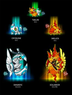 """-Bug -The Crepuscular pokemon -Ability:Swarm - Illuminate(HA) -Dex: """"This pokemon spents most of its time eating to gain energy for its evolution, but . Pokemon Fusion Art, Pokemon Fan Art, Oc Pokemon, Pokemon Fake, Pokemon Memes, Pokemon Pokedex, Evoluções Eevee, Charmander, Tyrantrum Pokemon"""