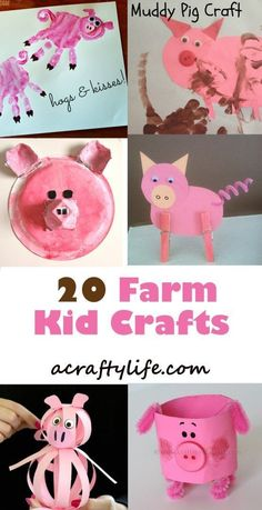 Pig Kid Crafts – Fun Animal Farm Theme - A Crafty LifeYou can find Farm theme and more on our website.Pig Kid Crafts – Fun Animal Farm Theme - A Crafty Life Farm Theme Crafts, Farm Animal Crafts, Pig Crafts, Animal Crafts For Kids, Daycare Crafts, Fun Crafts For Kids, Craft Activities For Kids, Preschool Crafts, Art For Kids