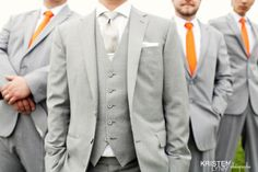 Love this look for groomsmen (but maybe with green instead of orange)