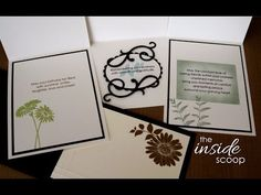 The Inside Scoop- Decorating the inside of your cards Great ideas to make inside of cards as beautiful as outside