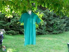 Vintage Kelly Green Knit Shift Dress size Small  $12.00   #craftshout03/19