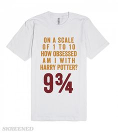 Harry Potter Obsessed | On a scale of 1 to 10 how obsessed am i with harry potter? 9 and 3/4! #Skreened