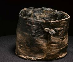 The Egtved Girl's beer barkbucket from bronze age- Denmark In the Egtved Girl's coffin a bark bucket was found.  When the contents of the bucket were analysed it became clear that it had contained a fermented drink – probably beer sweetened with honey. The drink was made from cowberries or cranberries. Wheat grains, remains of bog myrtle and large quantities of pollen (including lime pollen) were also found.
